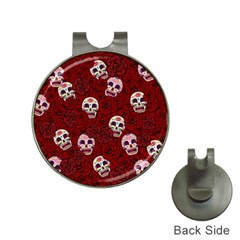 Funny Skull Rosebed Hat Clips with Golf Markers