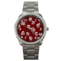 Funny Skull Rosebed Sport Metal Watch