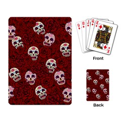 Funny Skull Rosebed Playing Card