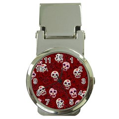 Funny Skull Rosebed Money Clip Watches