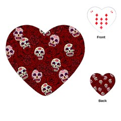 Funny Skull Rosebed Playing Cards (Heart)