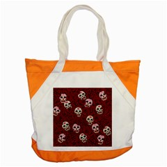 Funny Skull Rosebed Accent Tote Bag