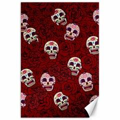 Funny Skull Rosebed Canvas 20  x 30