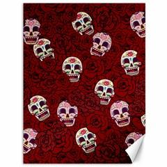 Funny Skull Rosebed Canvas 36  X 48