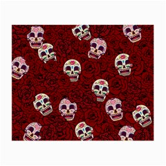 Funny Skull Rosebed Small Glasses Cloth (2 Side)