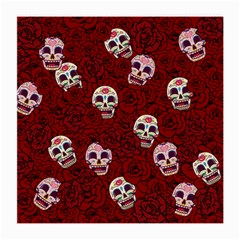 Funny Skull Rosebed Medium Glasses Cloth (2-Side)