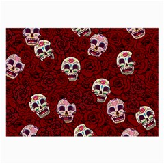Funny Skull Rosebed Large Glasses Cloth (2-Side)