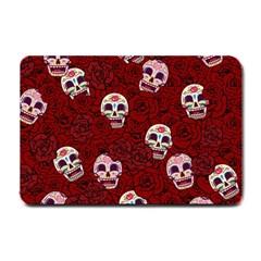 Funny Skull Rosebed Small Doormat