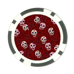 Funny Skull Rosebed Poker Chip Card Guard