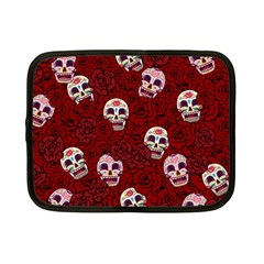Funny Skull Rosebed Netbook Case (small)