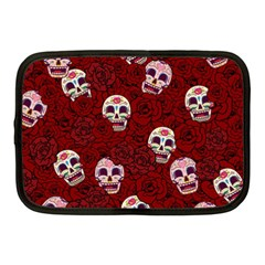 Funny Skull Rosebed Netbook Case (medium)