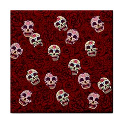 Funny Skull Rosebed Face Towel