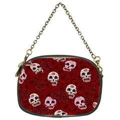 Funny Skull Rosebed Chain Purses (one Side)