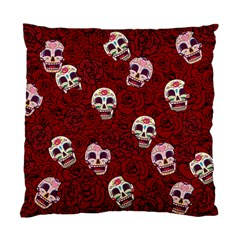 Funny Skull Rosebed Standard Cushion Case (One Side)