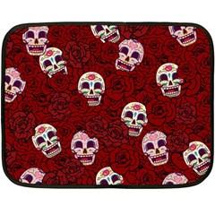 Funny Skull Rosebed Fleece Blanket (Mini)