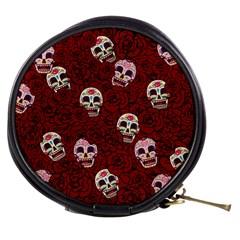 Funny Skull Rosebed Mini Makeup Bags