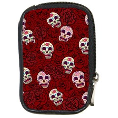 Funny Skull Rosebed Compact Camera Cases