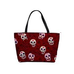 Funny Skull Rosebed Shoulder Handbags