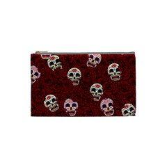 Funny Skull Rosebed Cosmetic Bag (small)