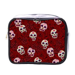 Funny Skull Rosebed Mini Toiletries Bags