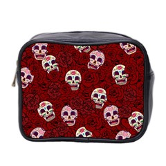 Funny Skull Rosebed Mini Toiletries Bag 2-Side
