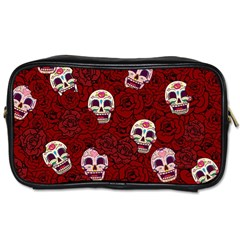 Funny Skull Rosebed Toiletries Bags 2 Side
