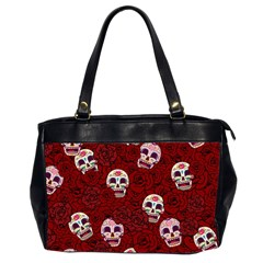 Funny Skull Rosebed Office Handbags (2 Sides)