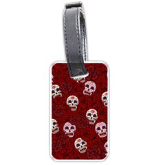 Funny Skull Rosebed Luggage Tags (Two Sides)