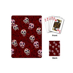 Funny Skull Rosebed Playing Cards (Mini)