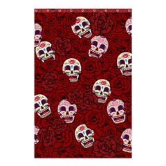 Funny Skull Rosebed Shower Curtain 48  x 72  (Small)