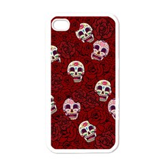 Funny Skull Rosebed Apple iPhone 4 Case (White)