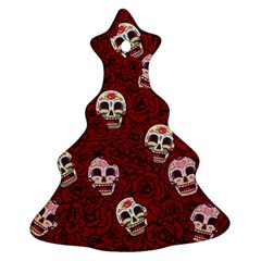 Funny Skull Rosebed Ornament (Christmas Tree)
