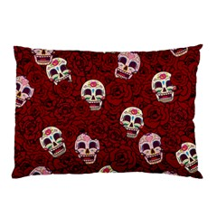 Funny Skull Rosebed Pillow Case (Two Sides)