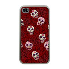 Funny Skull Rosebed Apple iPhone 4 Case (Clear)