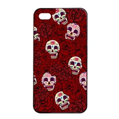 Funny Skull Rosebed Apple iPhone 4/4s Seamless Case (Black)