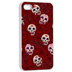 Funny Skull Rosebed Apple iPhone 4/4s Seamless Case (White)