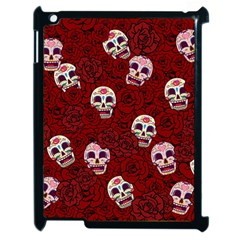 Funny Skull Rosebed Apple iPad 2 Case (Black)