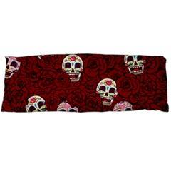 Funny Skull Rosebed Body Pillow Case Dakimakura (Two Sides)