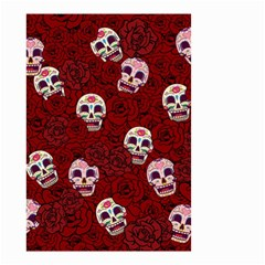 Funny Skull Rosebed Small Garden Flag (Two Sides)