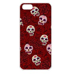 Funny Skull Rosebed Apple iPhone 5 Seamless Case (White)