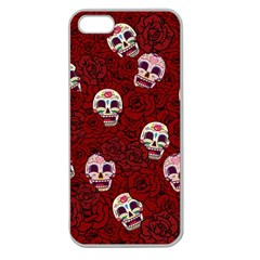 Funny Skull Rosebed Apple Seamless iPhone 5 Case (Clear)