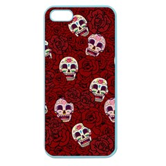 Funny Skull Rosebed Apple Seamless iPhone 5 Case (Color)