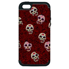 Funny Skull Rosebed Apple iPhone 5 Hardshell Case (PC+Silicone)