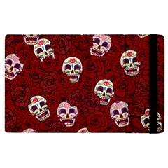 Funny Skull Rosebed Apple iPad 3/4 Flip Case