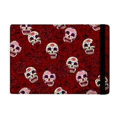 Funny Skull Rosebed Apple iPad Mini Flip Case