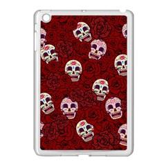 Funny Skull Rosebed Apple iPad Mini Case (White)