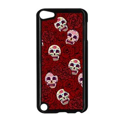 Funny Skull Rosebed Apple iPod Touch 5 Case (Black)