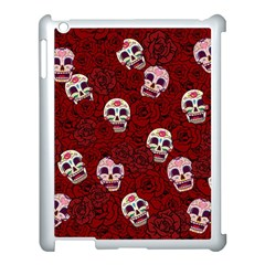 Funny Skull Rosebed Apple iPad 3/4 Case (White)