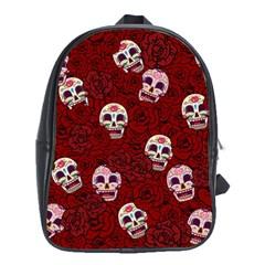 Funny Skull Rosebed School Bags (XL)