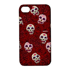 Funny Skull Rosebed Apple iPhone 4/4S Hardshell Case with Stand
